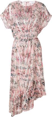 IRO floral asymmetric hem dress