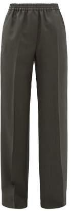Acne Studios Pammy Wool Blend Wide Leg Trousers - Womens - Green