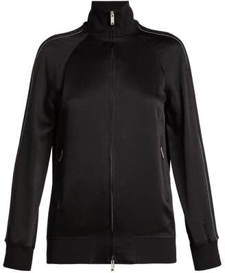 Valentino Satin Track Jacket - Womens - Black