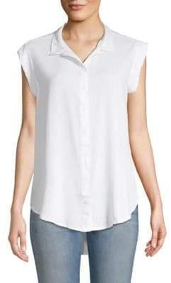Classic Sleeveless Button-down Shirt