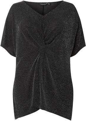 Dorothy Perkins Womens **Dp Curve Silver Lurex Front Top