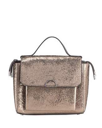 Brunello Cucinelli Broken Glass-Effect Top Handle Satchel Bag