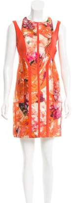 J. Mendel Cutout-Accented Sheath Dress Orange Cutout-Accented Sheath Dress