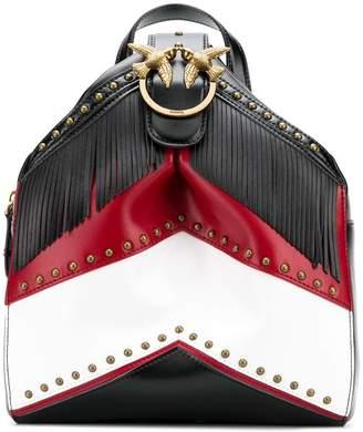 Pinko studded fringed backpack