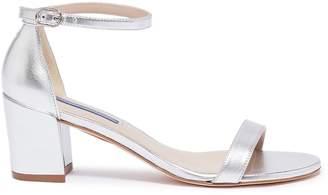 55b898cc1 Stuart Weitzman Silver Ankle Strap Sandals For Women - ShopStyle ...