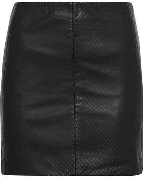 Muu Baa Muubaa Textured-Leather Mini Skirt