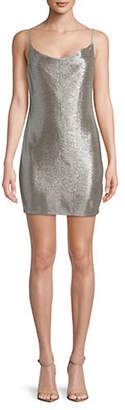 Topshop Foil Cowl Neck Mini Dress