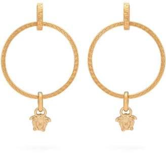 Versace Medusa Hoop Earrings - Womens - Gold