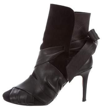 Isabel Marant Suede Wrap-Around Ankle Boots