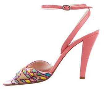 Marc by Marc Jacobs Satin Polka Dot Sandals