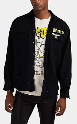 "Madeworn Men's ""Misfits""-Appliquéd Cotton Shirt Jacket - Black"