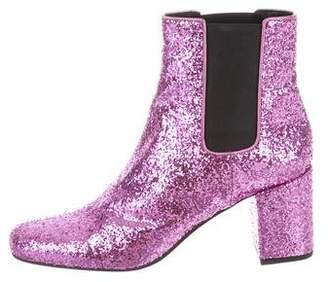Saint Laurent Glitter Chelsea Boots