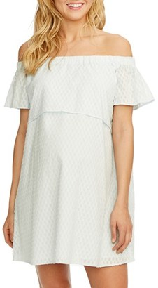 Women's Rosie Pope 'Camille' Off The Shoulder Maternity Dress $168 thestylecure.com
