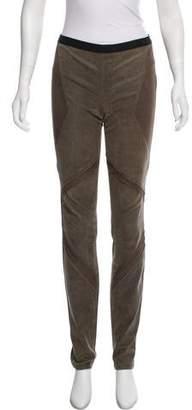 Helmut Lang Leather Mid-Rise Pants