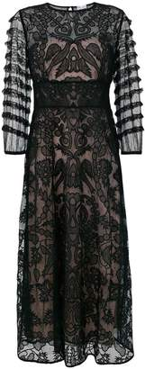 RED Valentino sheer embroidered tulle dress