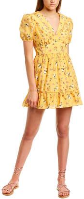 Talulah Shirred Silk-Blend A-Line Dress