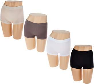 Breezies Set of 4 Seamless Boyshort Panties