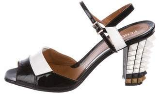 Fendi Studded Ankle-Strap Sandals