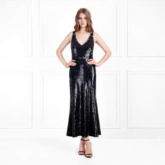 Rachel Zoe Lola Metallic Sequin Midi-Dress
