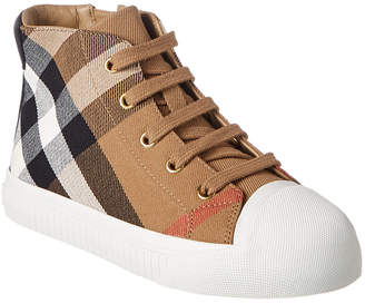 Burberry House Check & Leather Sneaker