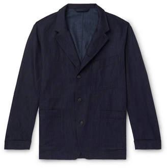 Paul Smith Cotton, Linen And Silk-blend Denim Chore Jacket - Indigo