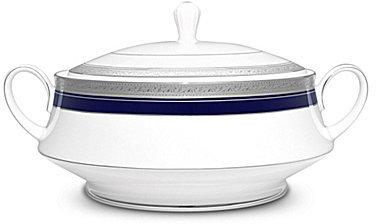 NoritakeNoritake Crestwood Cobalt Platinum Porcelain Covered Vegetable Bowl