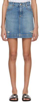 Stella McCartney Blue Denim Miniskirt