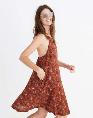 Madewell Halter Cover-Up Dress in Warm Paisley