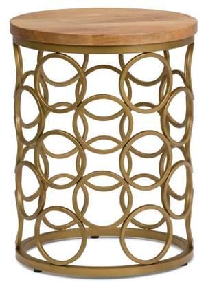 Simpli Home Sadie Metal/Wood Accent Table