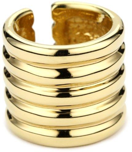 Giuseppe Zanotti Gold Finish Ridged Ring