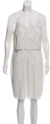 Aidan Mattox Beaded Sleeveless Dress