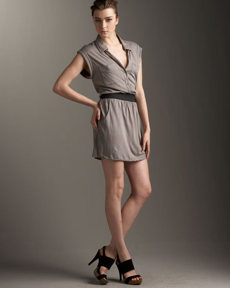 Theory Collared Jersey Dress