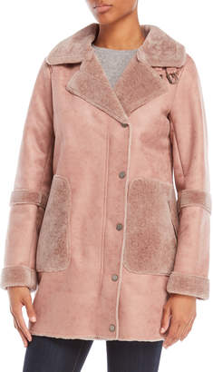 Lucky Brand Faux Shearling-Trimmed Coat