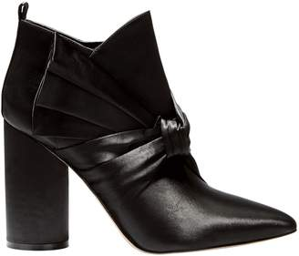 Sigerson Morrison Kiran Bow Satin Booties