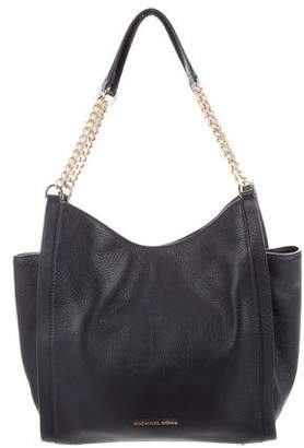 MICHAEL Michael Kors Leather Chain-Link Shoulder Bag