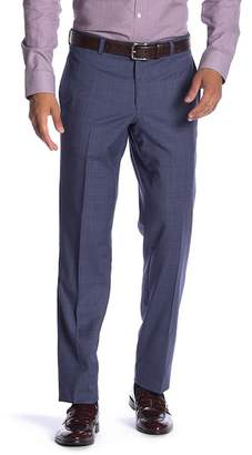 Ted Baker Jefferson Flat Front Wool Trim Fit Trousers