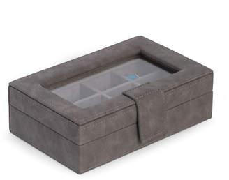 Bey-Berk 12-Compartment Cufflink\/Ring Storage Case