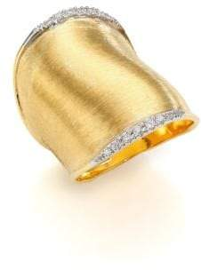 Marco Bicego Lunaria Diamond& 18K Yellow Gold Ring