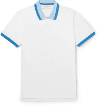 Orlebar Brown Jarrett Slim-Fit Contrast-Tipped Cotton-Pique Polo Shirt - Men - White