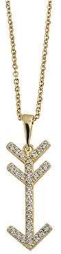 "ADI Paz 14K Crystal Arrow Pendant w/18"" Chain"
