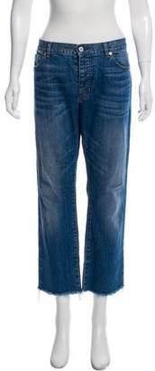 Nili Lotan Mid-Rise Cropped Boyfriend Jeans