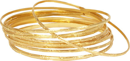 Golden Textured Bangles