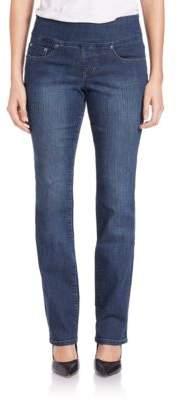 Jag Peri Elastic-Waist Straight-Leg Jeans