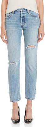 Levi's 501 Original Fit Distressed Jeans