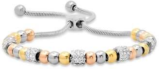 Steel By Design Steel by Design Tri-Color Adjustable Beaded Bracelet