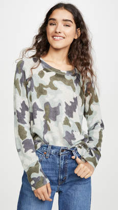 White + Warren Cashmere Camo Sweatshirt