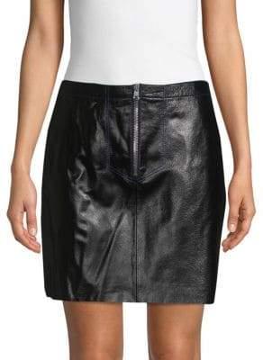 Sandro Ray Leather Mini Skirt
