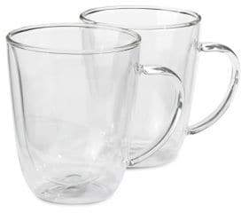 Trudeau Seat of Two Double Wall Mugs