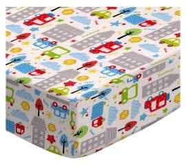 Graco SheetWorld Fitted Pack N Play Square Playard) Sheet - City Cars - Made In USA - 36 inches x 36 inches ( 91.4 cm x 91.4 cm)