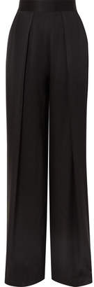 Kiki de Montparnasse Silk-charmeuse Wide-leg Pants - Black